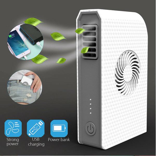 6000MAH Power Bank Fan Portable Mini Mobile USB Rechargeable Cooler Phone ipad