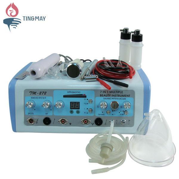 Bom preço 7 em 1 de alta frequência ultra-sônica galvânica multifuncional microcorrente facial face lift massager machine TM-272