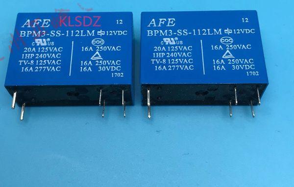 Ücretsiz kargo lot (5 adet / grup) 100% Orijinal Yeni BPM3-SS-112LM BPM3-SS-12VDC BPM3-SS-12 V 6PIN 16A 250VAC Elektromanyetik röle