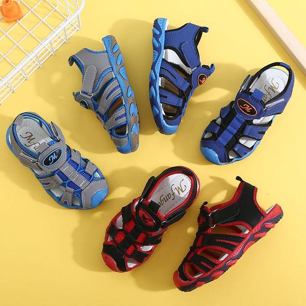 2019 verano nuevos niños grandes transpirable antideslizante comercio exterior zapatos de playa venta directa de fábrica