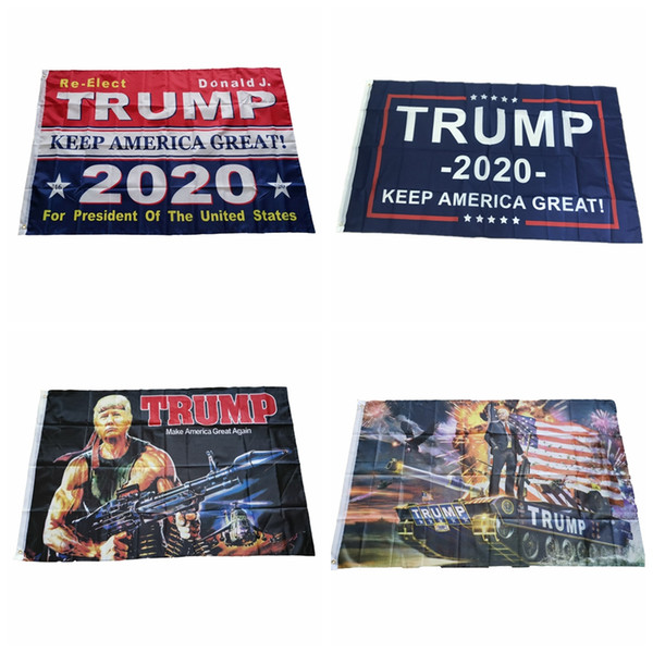 best selling Fashion Trump 2020 Flag 90*150CM Classic Donald Keep America Great Digital Print USA Banner Home Party Decor TTA1480