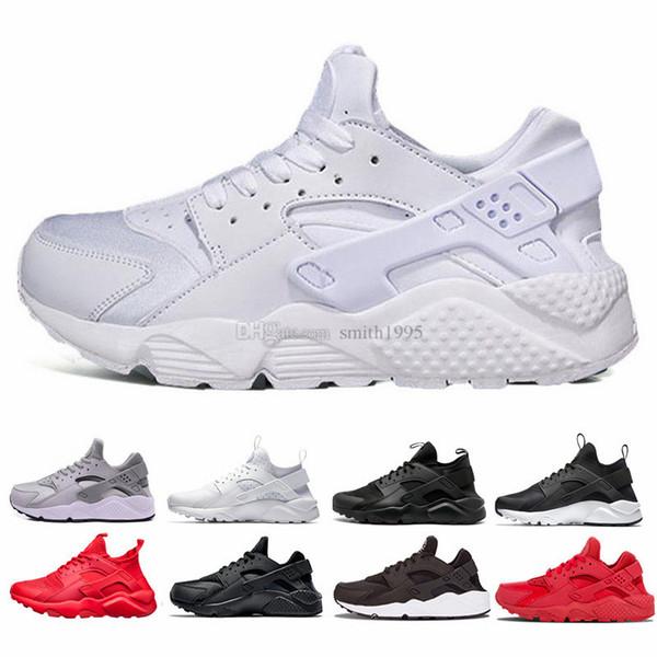 401678f08 Compre 2018 Huarache Ultra Run Shoes Triple Blanco Negro Hombres Mujeres  Zapatos Para Correr Rojo Gris Huaraches Zapatillas De Deporte Para Hombre  ...