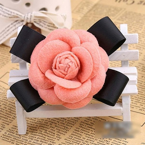 Pink Wool Bow