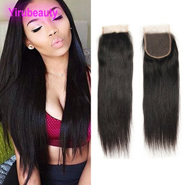Brazilian Human Hair 5 Pieces/lot Wholesale Price Body Wave Straight Hair Lace Closure 4X4 Closure Hair Extensions 8-20 Inch