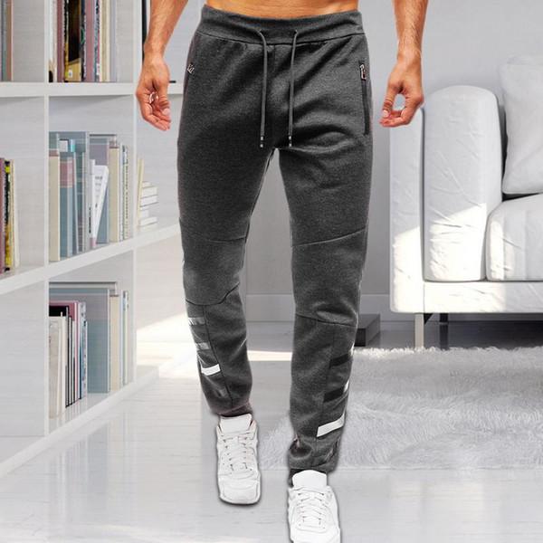 Pantaloni a vita lunga da uomo Pantaloni sportivi Pantaloni con zip Tasca aperta con zip Design stampato Pantaloni casual morbidi Nero Rosso