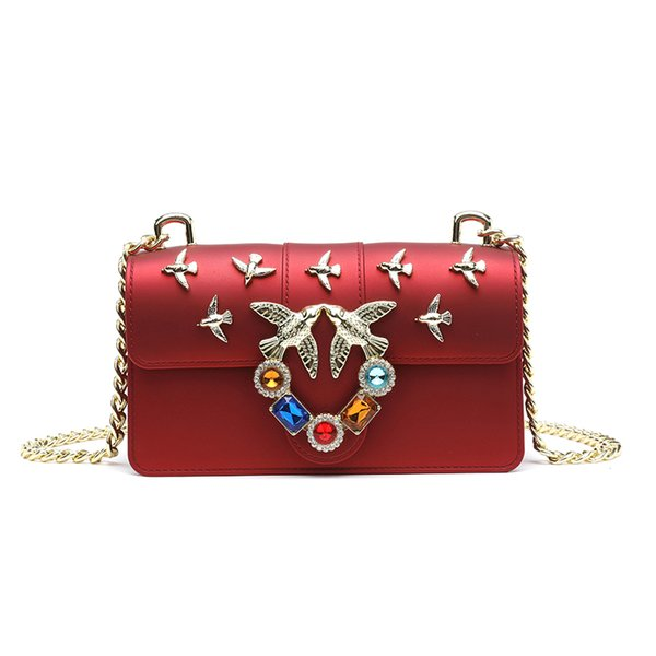 Luxury Handbags Women Bags Designer Lady Messenger Bag Small Chain Swallow Handbag Crossbody Bags For Girls Shoulder Bag Bolsa