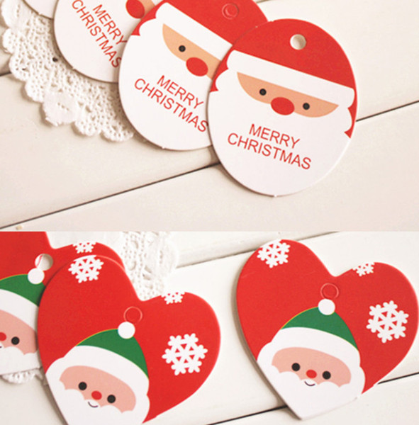 Card Paper Christmas Small Tag Blessing