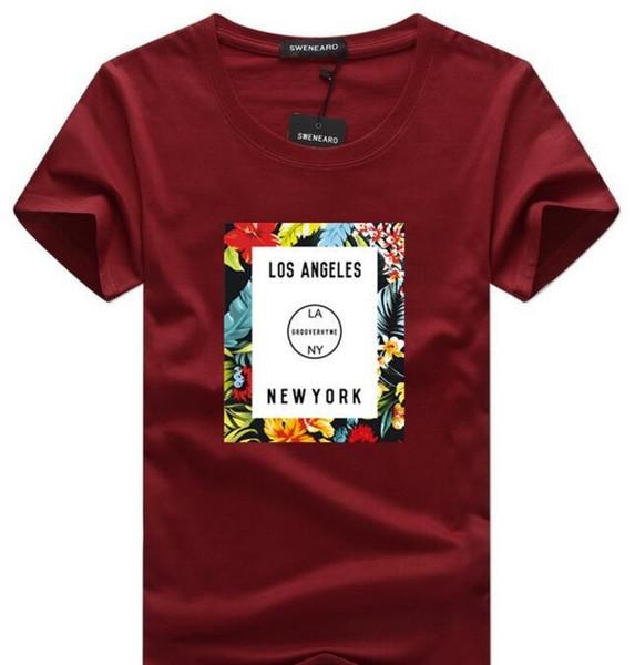 Hombre del diseñador T Shirts Camisetas Hip Hop Hombres camiseta caliente del nuevo del algodón transpirable de manga corta Diseñador casual de las camisetas M587