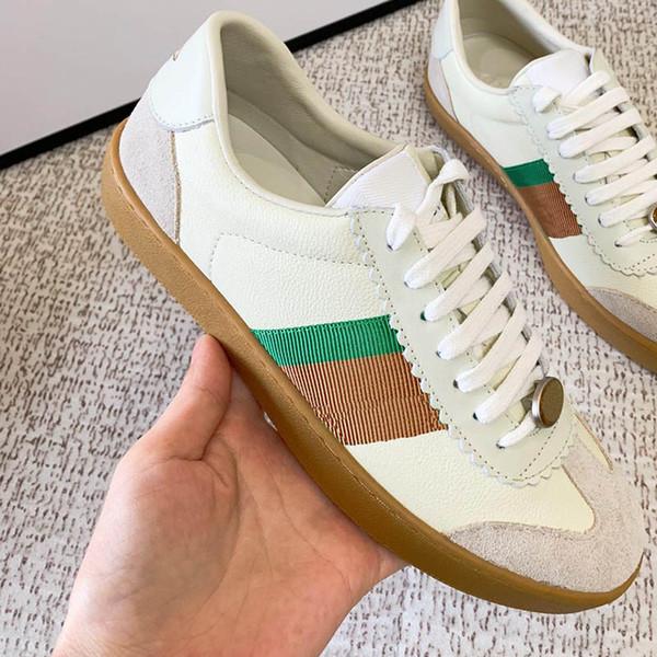 Sapatos de luxo Mais Recente Sapatos de Grife de Moda de Alta Qualidade Da Marca Dos Homens Das Mulheres Sapatos Casuais Tamanho 35-44 Modelo RZ04