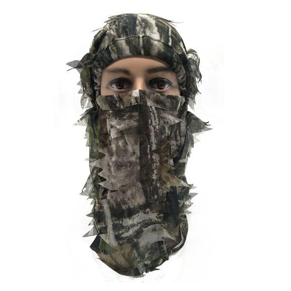 Bufanda de camuflaje táctica Pesca Máscara 3D Facial Facial completo Jungle Muffler Máscara de bufanda de caza para acampar al aire libre