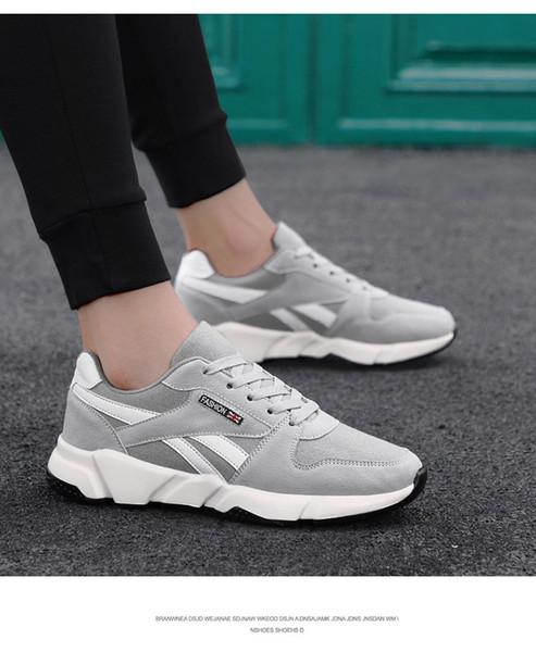 2019 남자를위한 새로운 유행 메쉬 캐주얼 신발 레이스 업 고품질의 편안한 가벼운 유일한 새로운 스타일의 남자 통풍 성인 신발