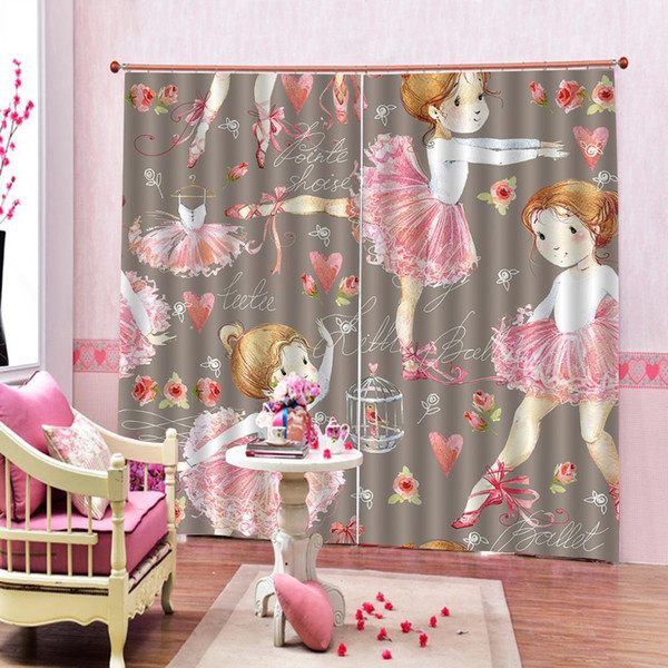 2019 Beautiful Girls Curtains Luxury Blackout 3D Window Curtain For Living  Room Bedroom Drapes Cortinas Dance Curtain From Glenae, $213.94 | ...