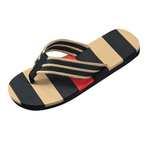 best selling Hot Selling Fashion Men Summer Stripe Flip Flops Shoes Sandals Male Slipper Flip-flops EVA Mixed Colors Flat with Shoes 2019