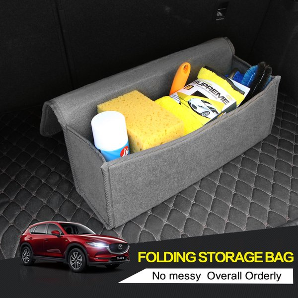 nterior Accessories Stowing Tidying Car Felt Storage Box Trunk Bag Vehicle Tool Box Multi-use Tools Organizer Bag Carpet Folding Automobi...
