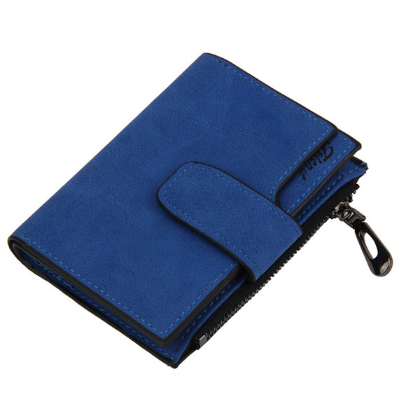 Short Wallets Brand Design Purses Women Mini Grind Magic Bifold Leather Wallet Card Holder Wallet Purse Bifold Holder#L5$