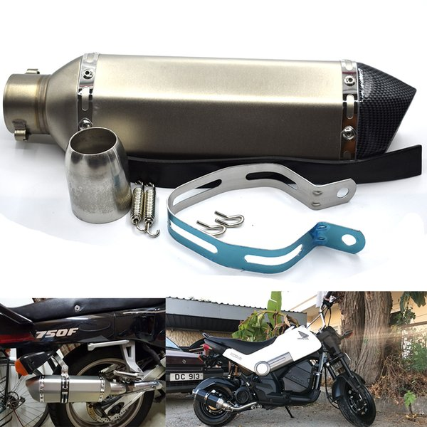 For 51mm Universal Muffler Exhaust Pipe with DB killer GY6 R1 R3 R6 FZ6 Plus Motorcycle ATV Laser Marking Escape