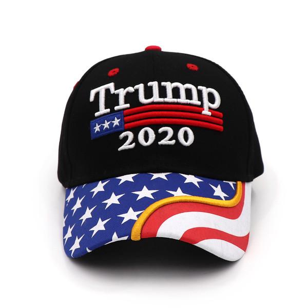 Donald Trump 2020 Cap Camuflaje Bandera de EE. UU. Gorras de béisbol Haga que Estados Unidos vuelva a ser genial Snapback Presidente Sombrero Bordado al por mayor