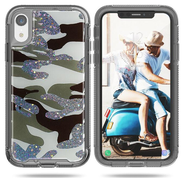 New type of smart phone case anti-falling mobile phone protective jacket two-in-one protective jacket for iPhone X XS