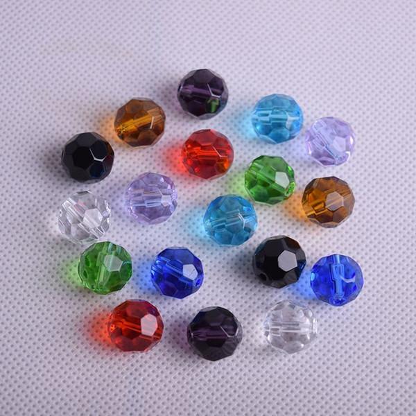 Mischfarben 8mm 50pcs Rondelle Österreich facettierte Kristallglasperlen lose Distanzscheibe runde Perlen für Schmucksachen, die Armbandzusätze bilden