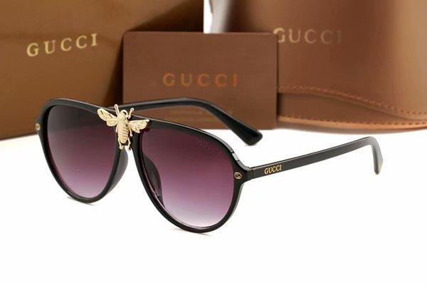 Europeu Clássico Óculos De Sol Das Mulheres Da Moda Estilo BEE Quadro de Óculos de Qualidade Superior UV400 Lente de Proteção Da Marca Sunglasse 2268