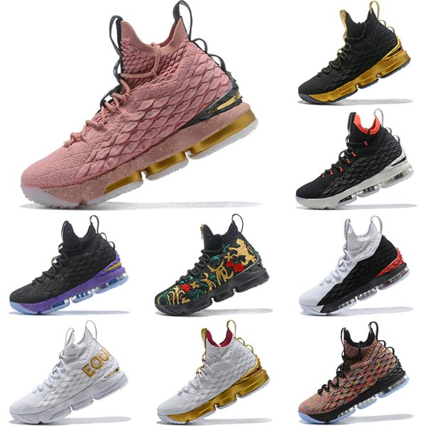 Arrival Lebron 15 Hollywood All Star Rust Pink Metallic Gold Black 897650  600 Mens Basketball Shoes James 15 Sneakers XV Sports Size 40-46 9896ad569