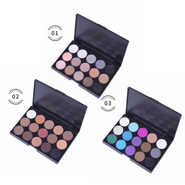 15 couleurs Palette d'ombres à paupières Smokey Waterproof Ombre à paupières durable Colorfast Shimmer Matte 2019