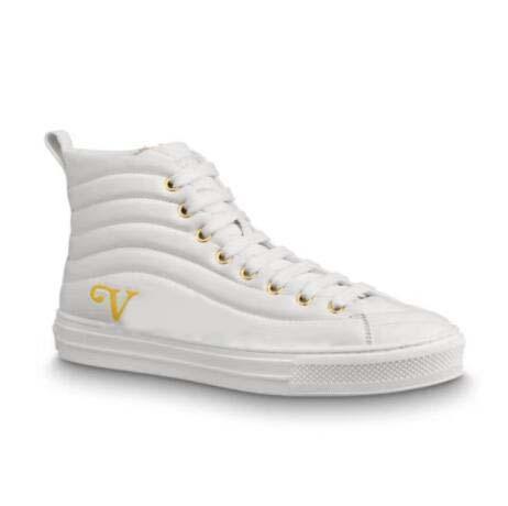 Mulheres Sapatilha Fastlane Macio e Leve Moda Casual Sapatos Baixos Designer de Couro Genuíno Tênis Letras Bordadas Monograma Shoe36 70
