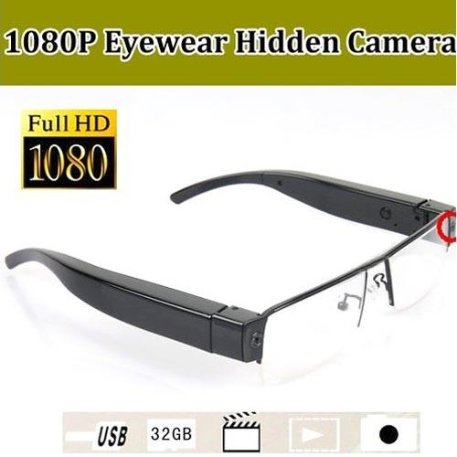 Full HD 1920 X 1080 Eyewear Video Recorder With 5M Mega CMOS Support 32GB Memory Card