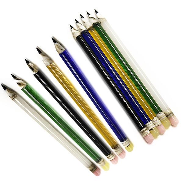 Commercio all'ingrosso 6 pollici di vetro Dabber a forma di matita stile Bong Dabber Tool 7 colori per Dab Rig Glass Bong Glass Bubbler Water Pipe