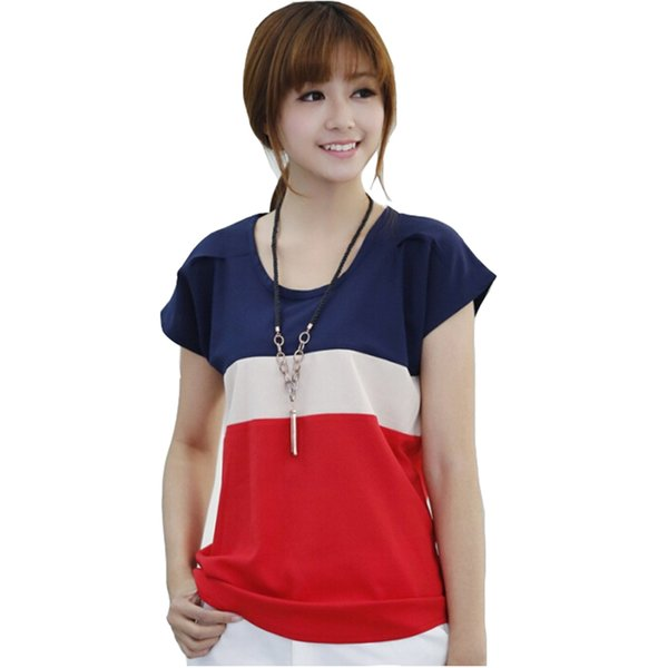 t shirt women womens  women shirts fashion t shirts ladies shirts spell color stripe lady loose size s xxxl  t