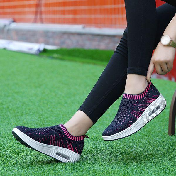 Zapatos deportivos casuales de malla al aire libre para mujer Zapatos de amortiguación de aire de suela gruesa Zapatillas de deporte para dropshipping 20180823
