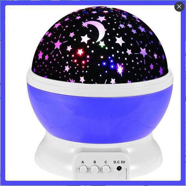 Lightme Stars Sternenhimmel LED Nachtlicht Projektor Mondlampe Batterie USB Kinder Geschenke Kinder Schlafzimmer Lampe Projektionslampe B