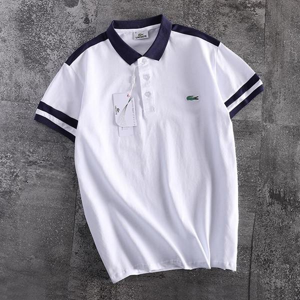 Diseñador de lujo para hombre polos camisas marca de verano polos para hombres camisetas con cocodrilo casual para hombre tops logo clothing 2 colores