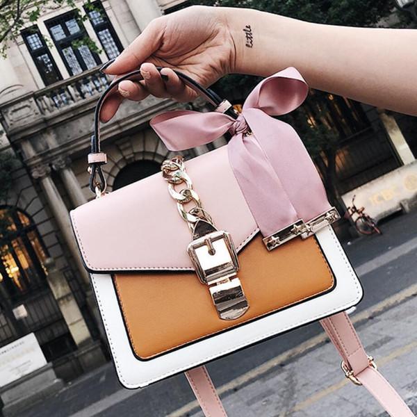 2019 femmes sac femmes Messenger Sacs Mini Petit carré Paquet Sac à bandoulière bandoulière paquet d'embrayages femmes Designer Wallet Sacs à main