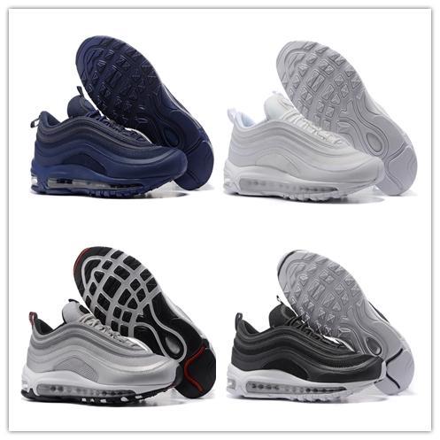 Compre Nike Air Max 97 Airmax 97 Venta Caliente Nuevos Hombres Corriendo Zapato Cojín 97 KPU Plástico Zapatos De Entrenamiento Barato Al Por Mayor De