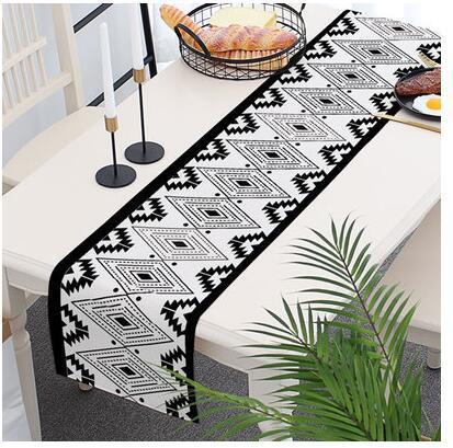 البوهيمي تصميم هندسي الجدول العلم القطن والكتان الجدول حصيرة القهوة القماش مفرش السرير اللوتس العلم