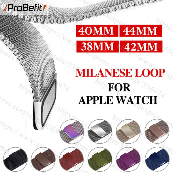 top popular Milanese Loop Bracelet Stainless Steel band For Apple Watch series 1 2 3 42mm 38mm Bracelet strap for iwatch series 4 40mm 44mm 2019