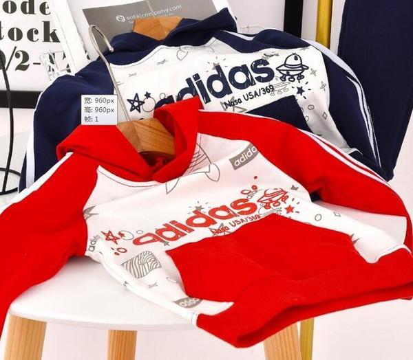 2-13T Vêtements pour bébé ensembles et d'hiver Nouveau automne vêtement Motif enfants Homme Fille Pull Costume pour enfants vêtements veste 100617