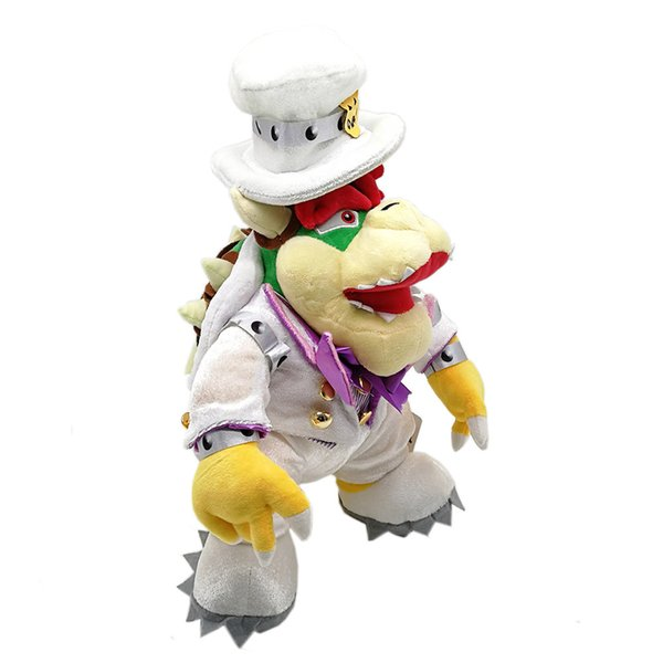 """Hot New 13.5"""" 35CM Super Mario Bros Odyssey Bowser Koopa With White Dress Plush Doll Anime Collectible Best Dolls Stuffed Gifts Soft Toys"""