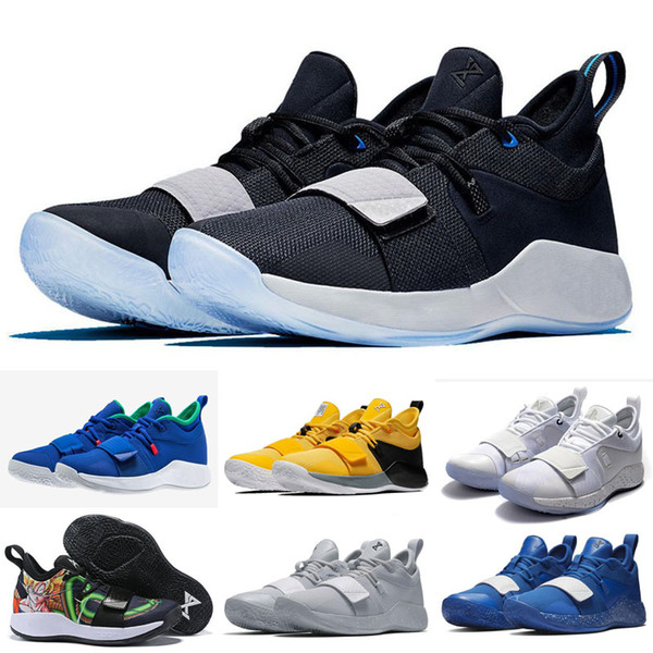 2019 Champion PG 2.5 University Red Opti Yellow Men Kids Basketball Shoes Racer blue White Black Wolf Grey Mens Paul George sports sneakers