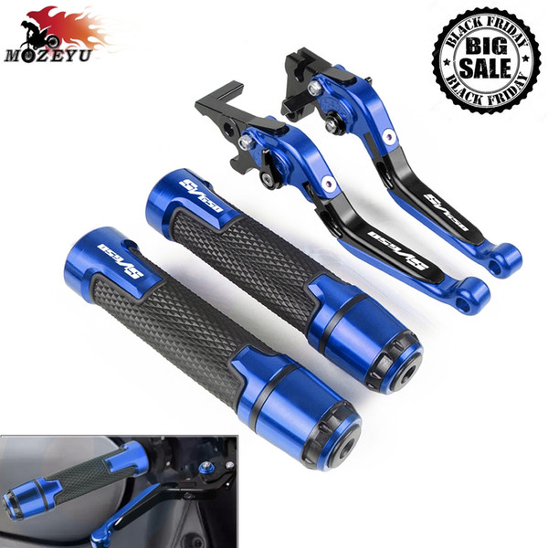 best selling For SV650 SV650S 1999-2009 2008 2007 2006 2005 2004 2003 2002 2000Motorcycle Brake Clutch Lever and Handle Grips Handbar