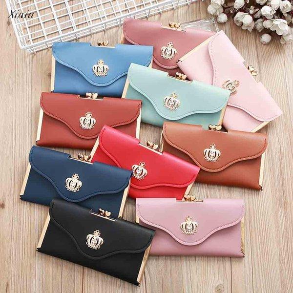 Fashion Wallet Clutch Bag Crown Diamond Handytasche Damen Lange Abend Geldbörse Damen Geldbörsen dames portemonnee
