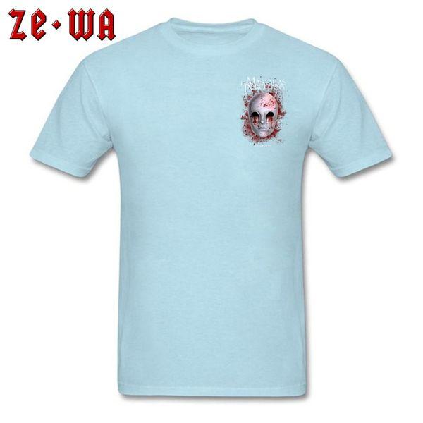 Mens luxury brand designer t shirts Horror Male T shirt Porcelain Mask T Shirts Short Sleeve Casual Brand Men Summer TShirt Gothic Airsoft