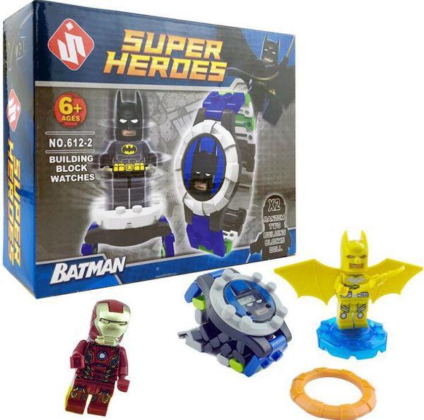 Süper Kahraman DC Avenger Orijinal Kutusu İzle Ninja Tuğla İzle Oyuncak Noel Hediyesi Karikatür saati hediye