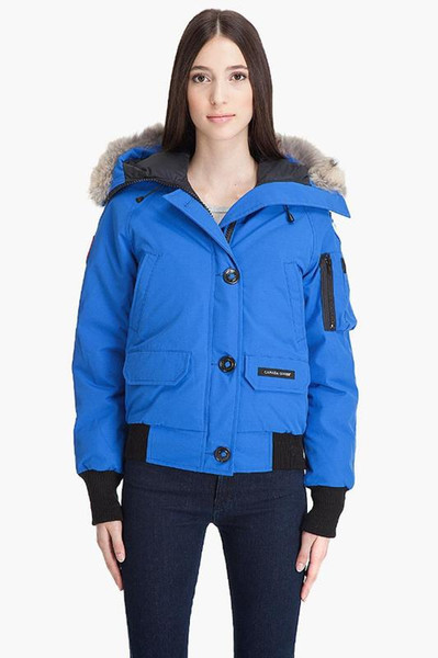 DHL Women Parkas WINTER CANADA CHILLIWAC-3 Down & Parkas WITH HOOD/Snowdome jacket Real wolf Collar White Duck/GOOSE Outerwear & Coats