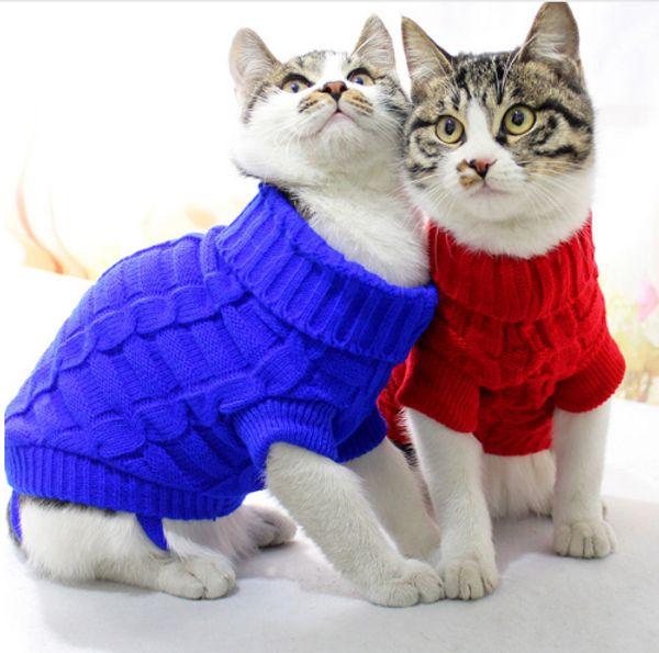 Concise Pet Cat Clothes Sweater For Cats Winter Warm Cat Costume Clothing  Katten Kedi Coat Cat Halloween Costumes Cats Cat Halloween Costumes For