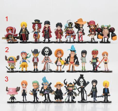 Funko POP Luffy Tony Tony Chopper Trafalgar`Law Ace Action Figures PVC Anime Toys Japanese Cartoon Doll Toys For Collection 10cm9pcs/set Ani
