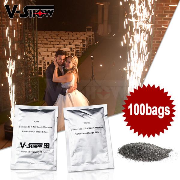 100 Borse SDS certificazione Polvere speciale Ti Polvere 200g / sacchetto di vuoto materiale di imballaggio per le fredde Spark Wedding Fireworks Macchina