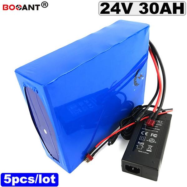 Atacado 5 pezzi 24 24 v 30ah bateria de iões de Lítio bicicleta Elétrica da Bateria v E moto-bateria Li-ion para BBSHD Bafang 250 w 500 w Do M