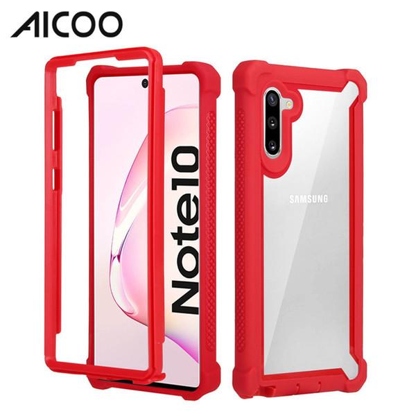 AICOO Espace Transparent Case Hybrid Armor Case Personnaliser la couverture antichoc pour iPhone XS MAX XR Samsung Note 10 Plus S10 LG Stylo 4 OPP